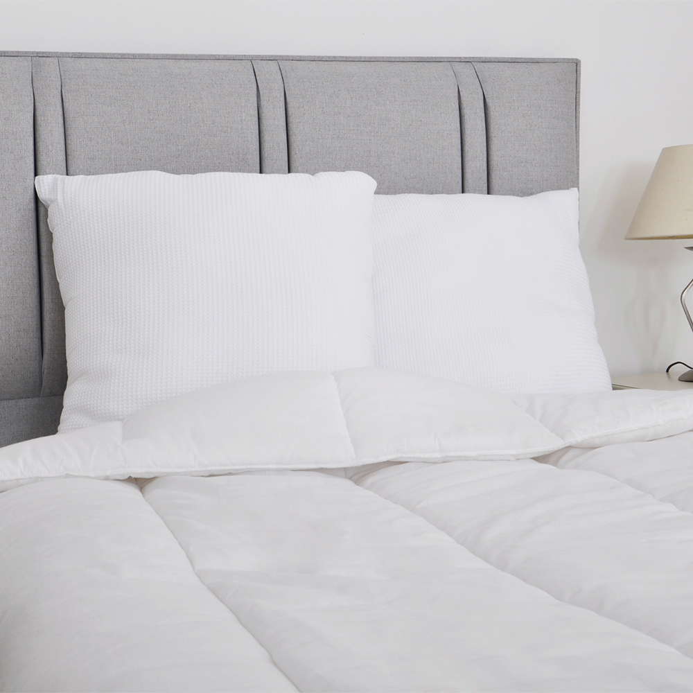 Extra Large Square Floor Pillows : Large Square Waffle Design Pillow PAIR 100% Cotton Euro Continental 65 x 65cm eBay