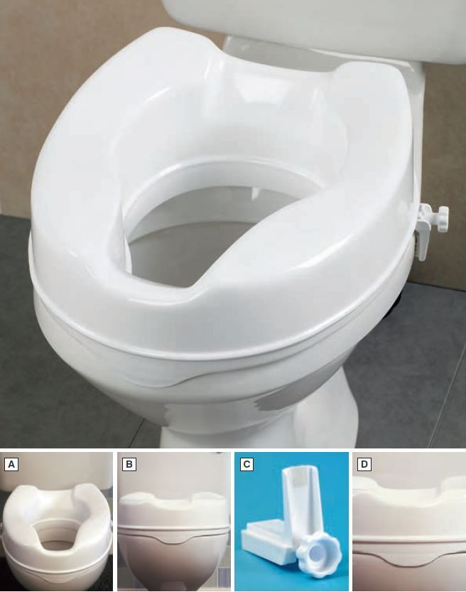 Savanah Raised Toilet Seat 2 Bathroom Aid Elevated Toileting Mobility E
