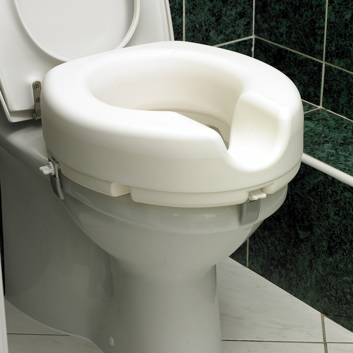 Raised Toilet Seat 5 Elevated Toileting Mobility Disability Elderly Care Aid