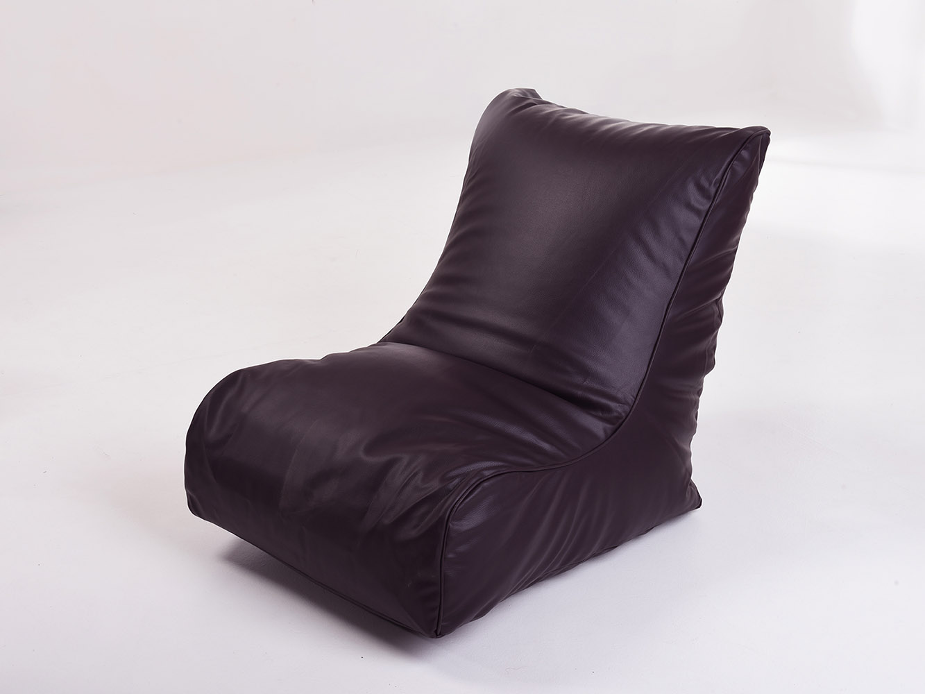 leather look gaming chair bean bag in aubergine. Black Bedroom Furniture Sets. Home Design Ideas