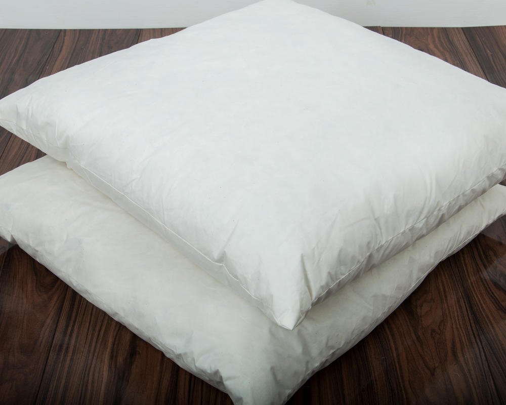Square Euro Continental Duck Feather Pillow Large Cotton