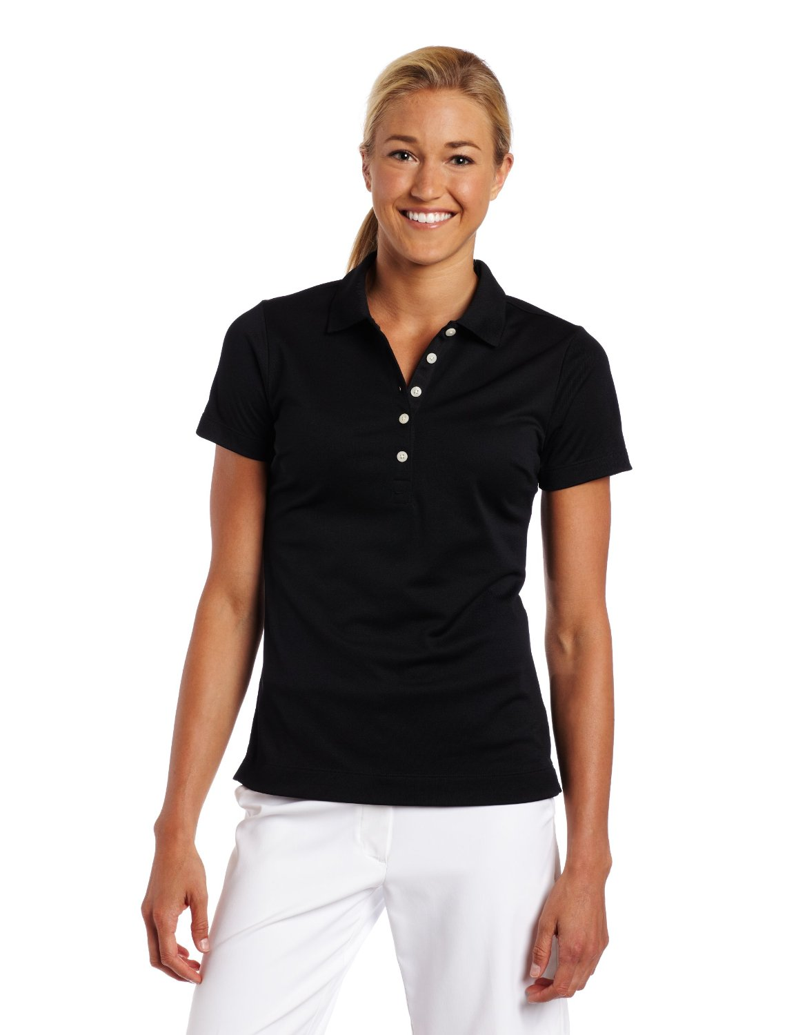 Nike Ladies Tech Pique Polo Shirt Black XL - 394665 | eBay
