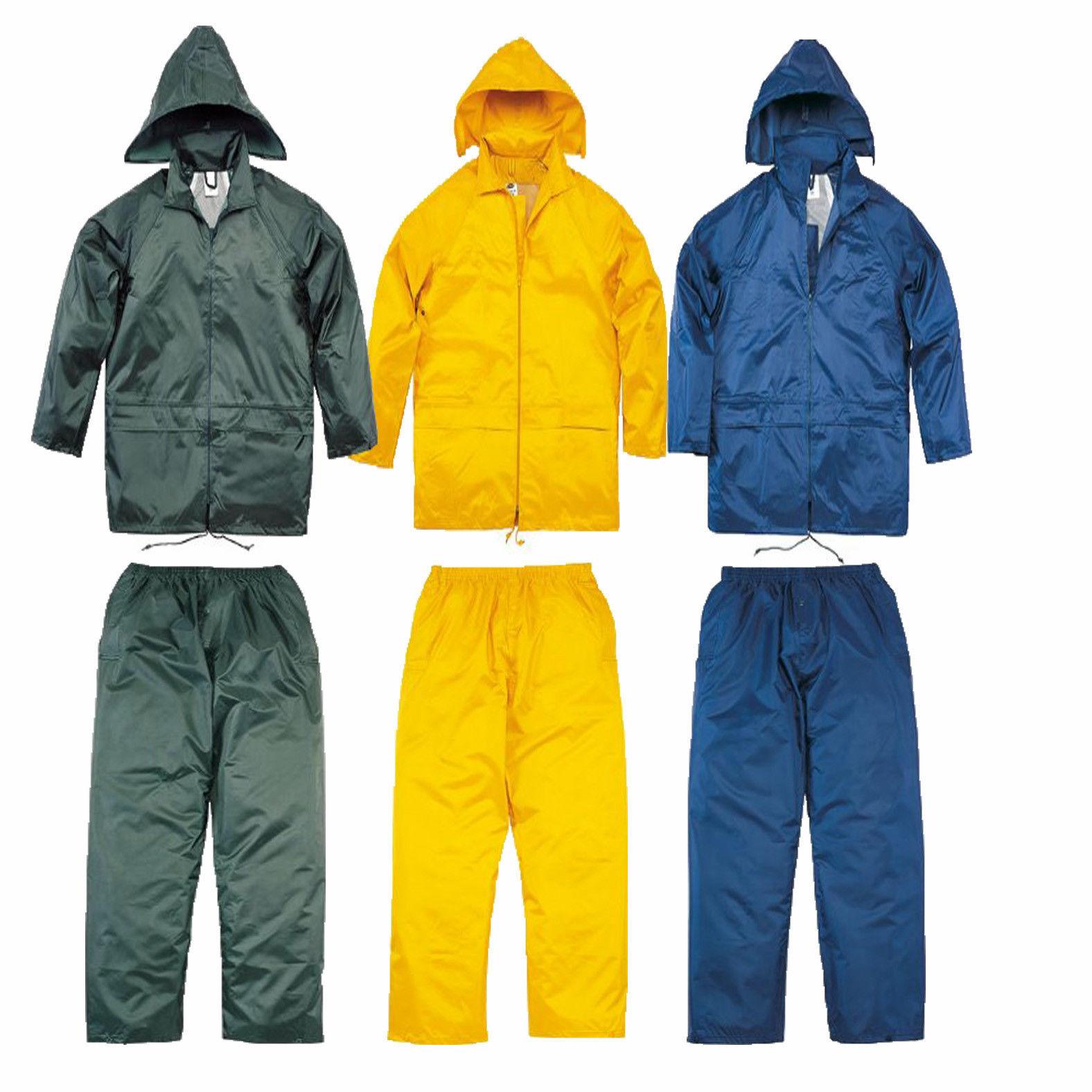 Delta Plus PVC Waterproof Rain Suit Trouser / Hooded ...