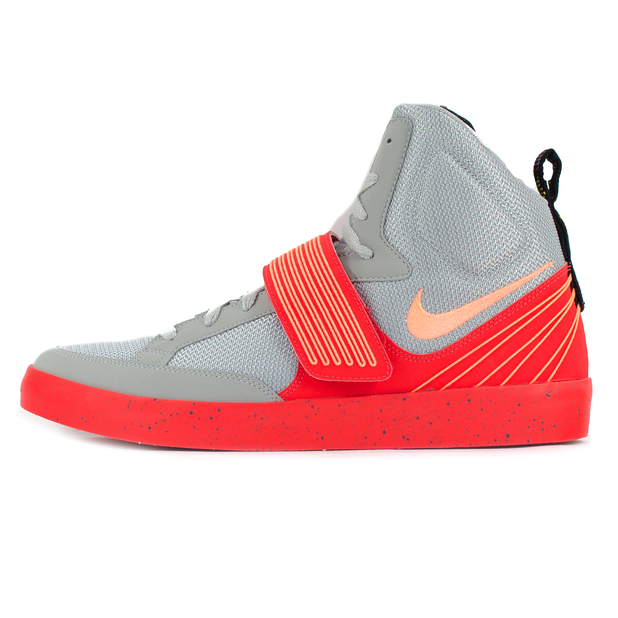 Nike NSW Skystepper High Top Grey/Atomic Orange Velcro ...