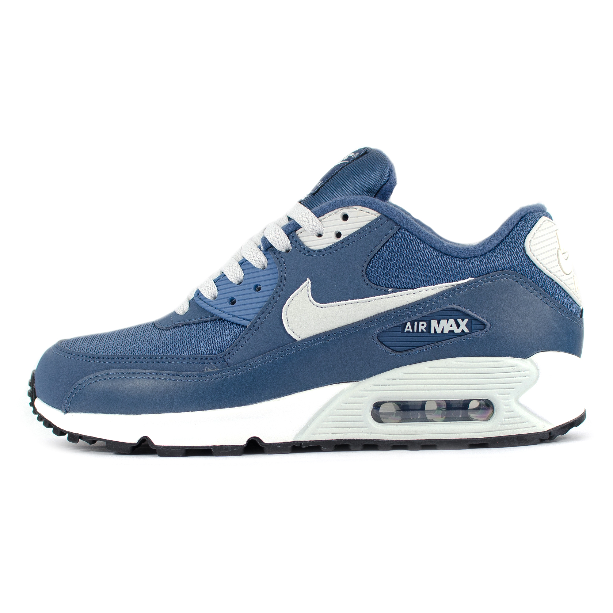 Details about Nike Air Max 90 Essential Blue Grey Slate White Trainers    Nike Air Max 90 Essential Blue