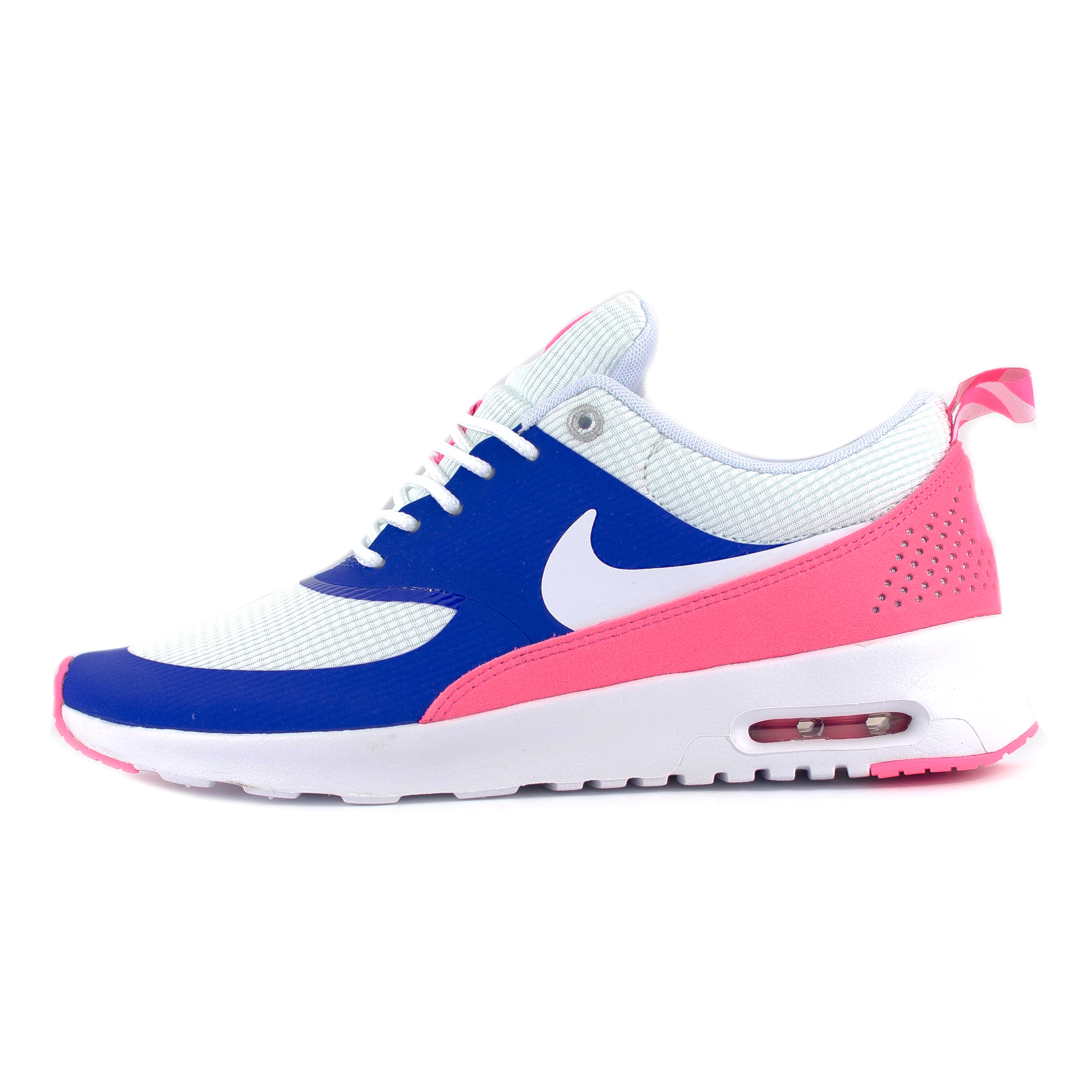womens nike air max thea white game royal blue grey. Black Bedroom Furniture Sets. Home Design Ideas