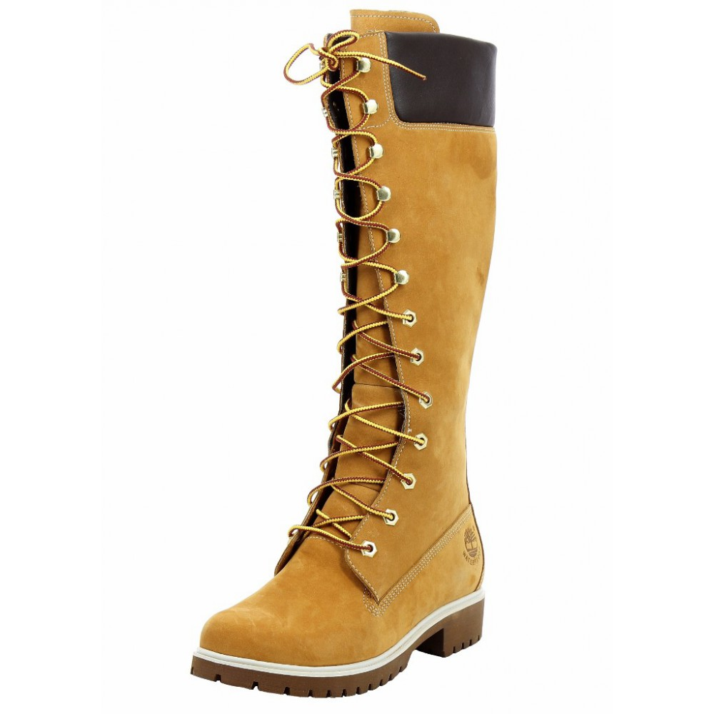 Innovative TIMBERLAND Women39s High Heel Boot Lace Up Closure Suede Body