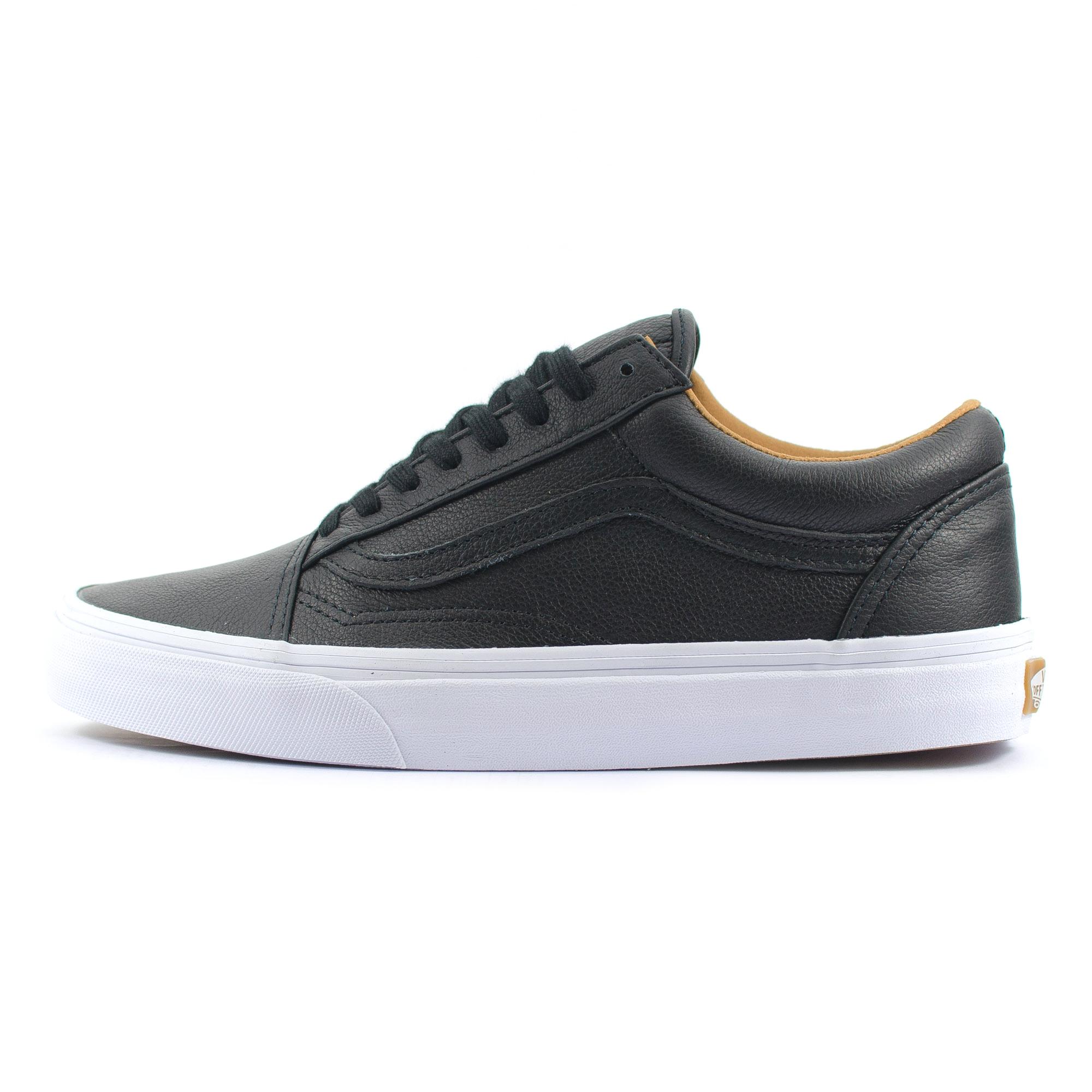 unisex vans old skool skate premium leather black classic. Black Bedroom Furniture Sets. Home Design Ideas