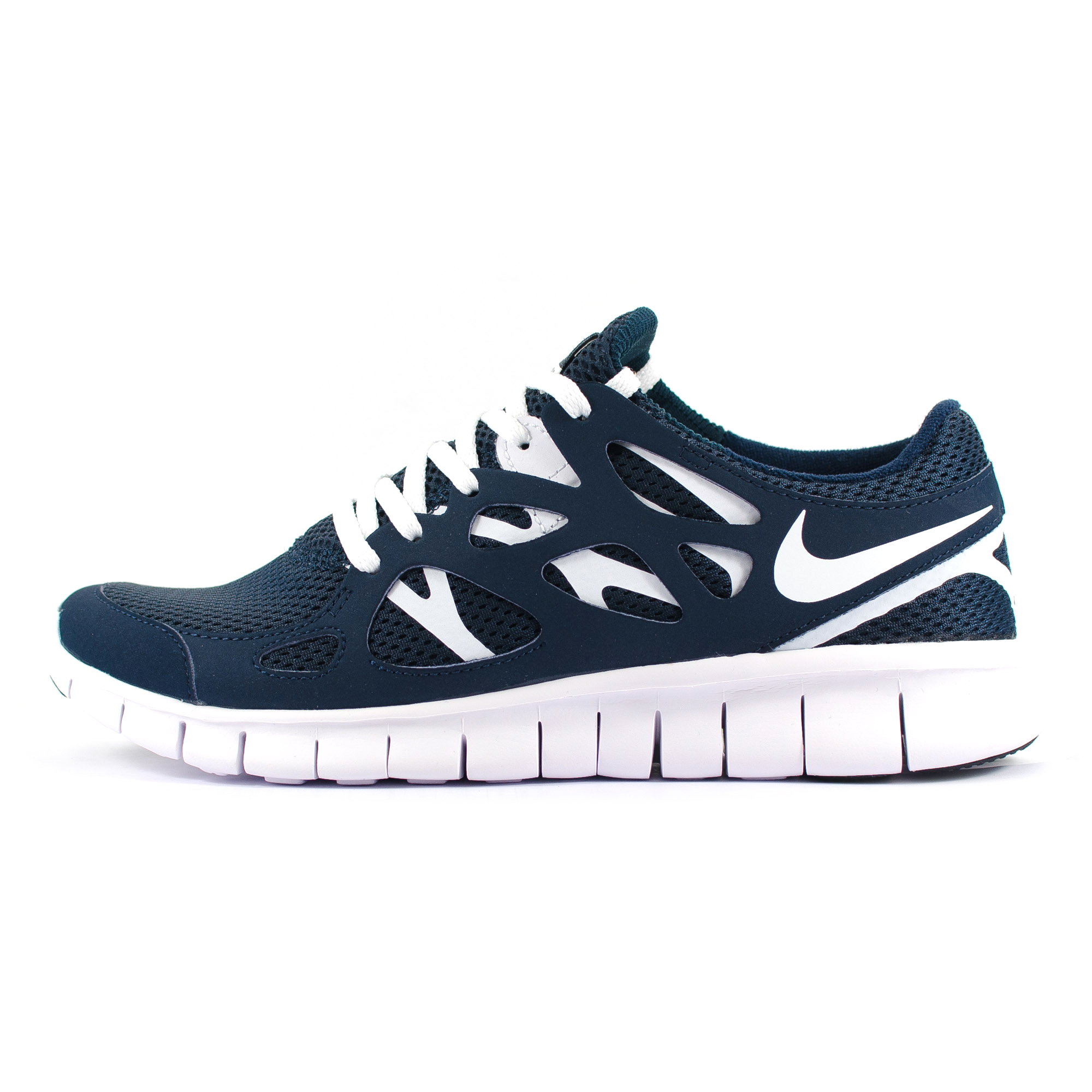 Mens Nike Free Run 2 Navy Blue/White Running Trainers (540244 411)