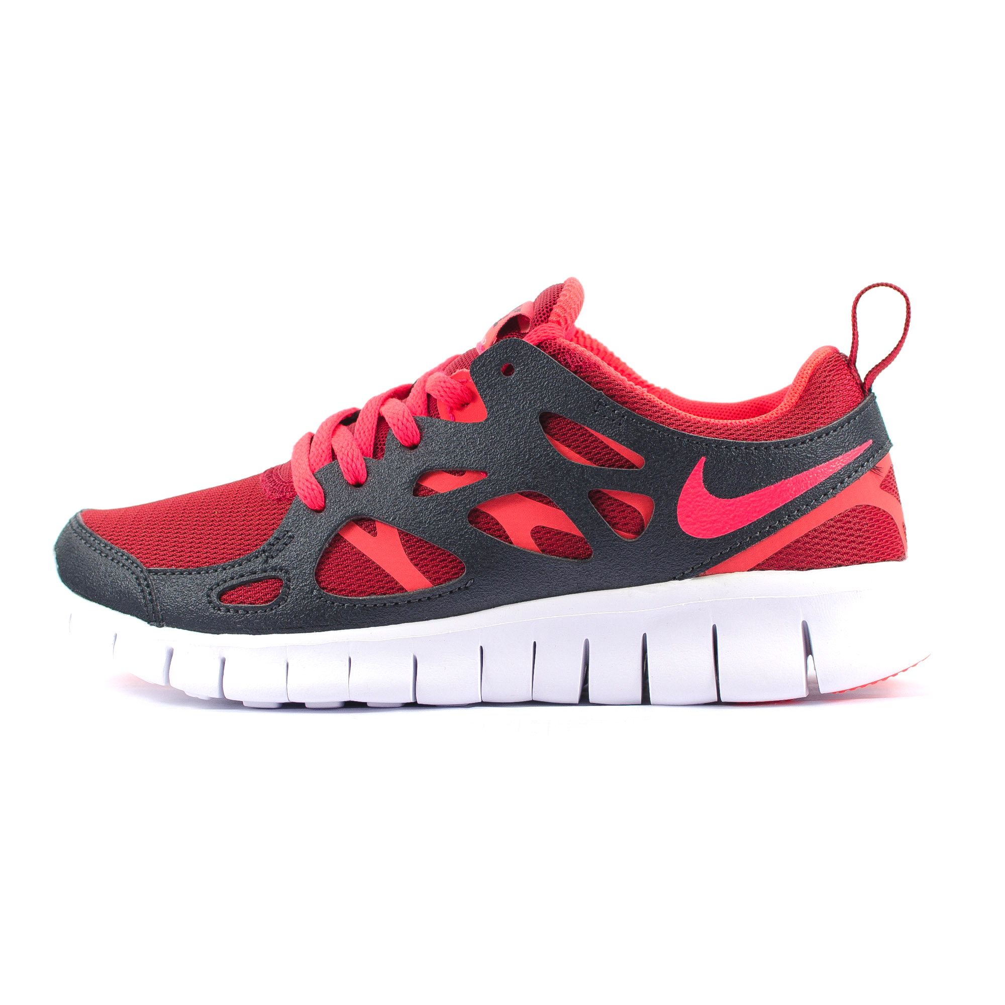 kids juniors nike free run 2 red grey white performance. Black Bedroom Furniture Sets. Home Design Ideas