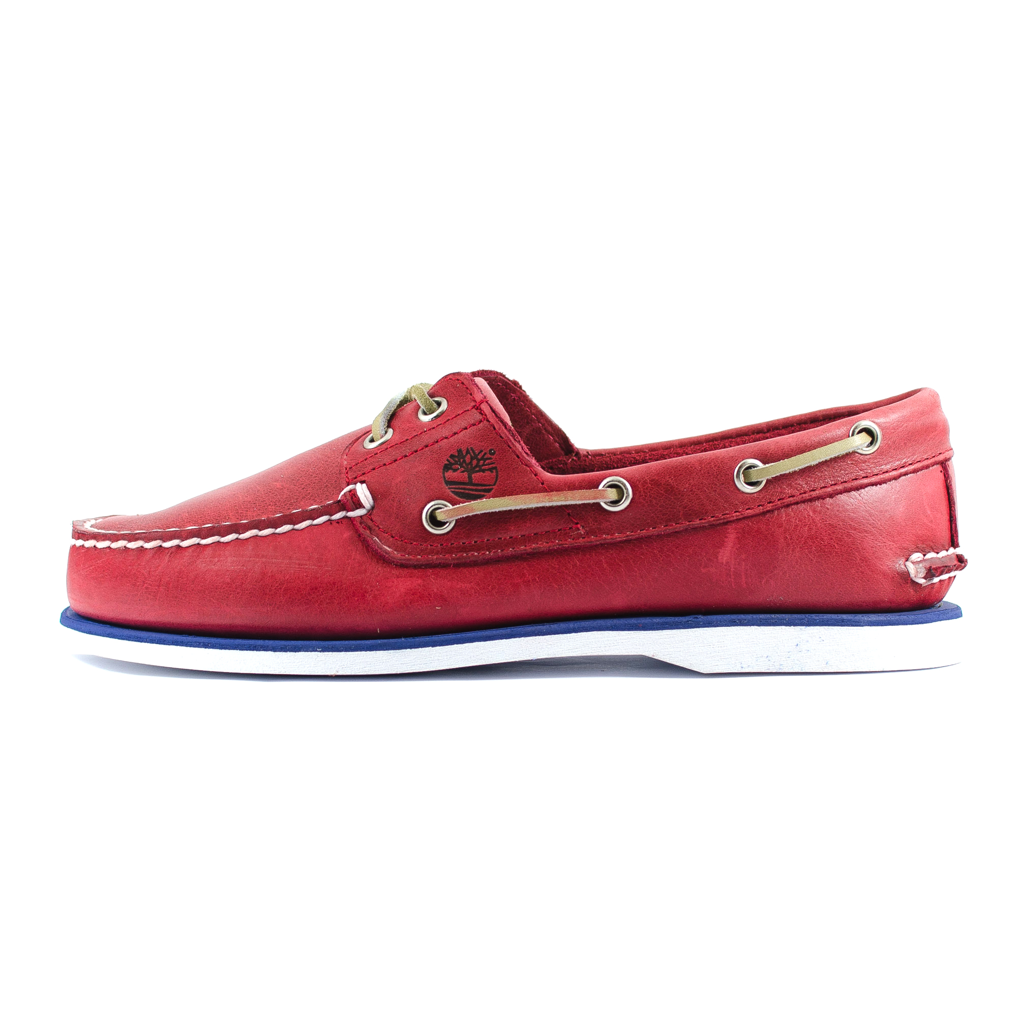 Mens Timberland Icon Classic 2 Eye Red Leather Boat Shoe (6829A ...