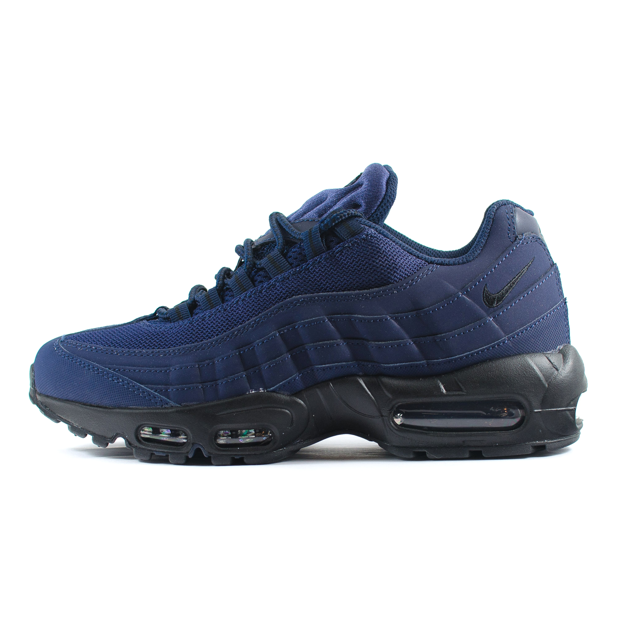 Mens Nike Air Max 95 Navy Blue/Black Classic Running Trainers (609048 407) | eBay