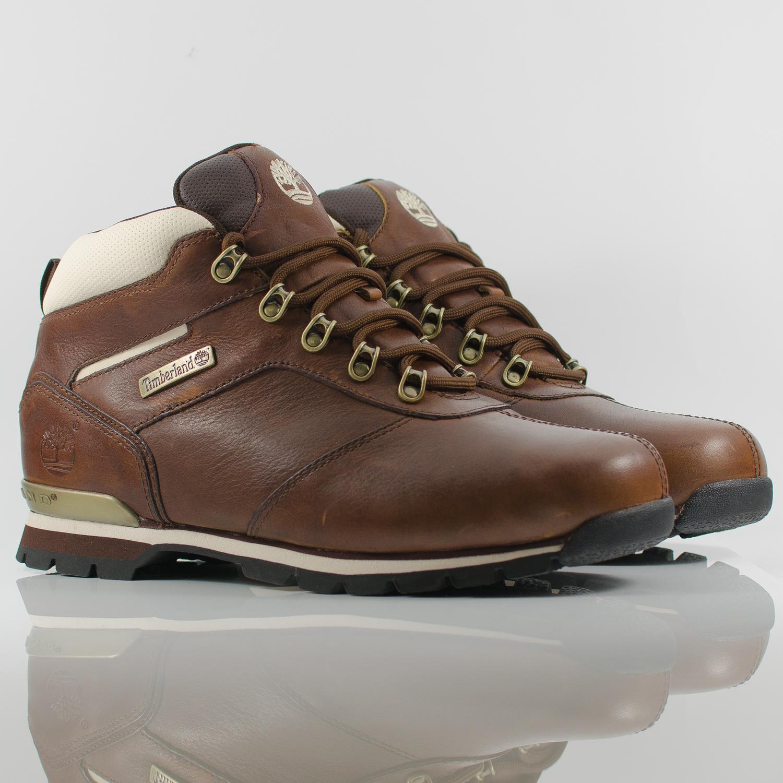 timberland splitrock 2 hiker brown white leather