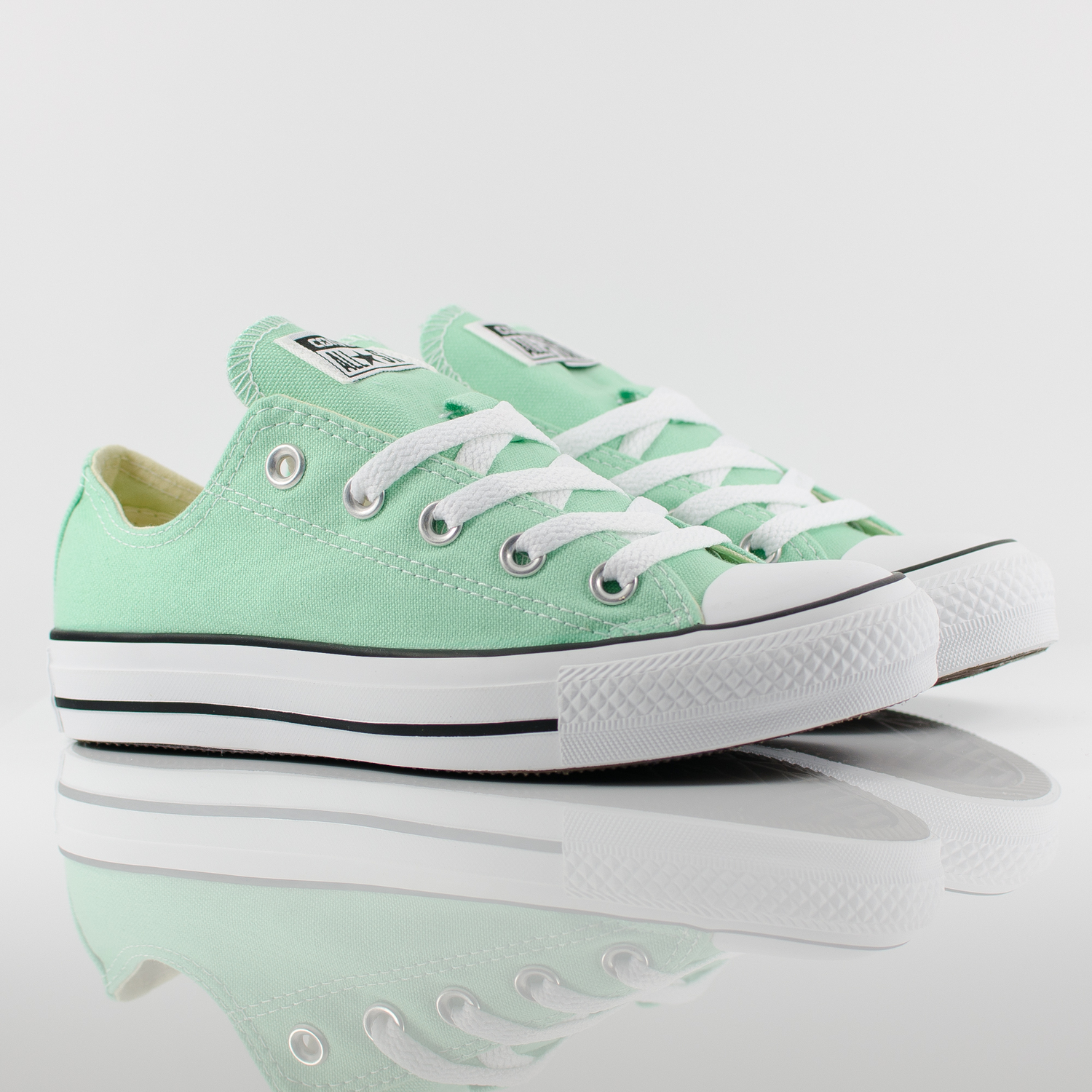 Womens Converse All Star Ox Low Chuck Taylor Peppermint Green Trainers