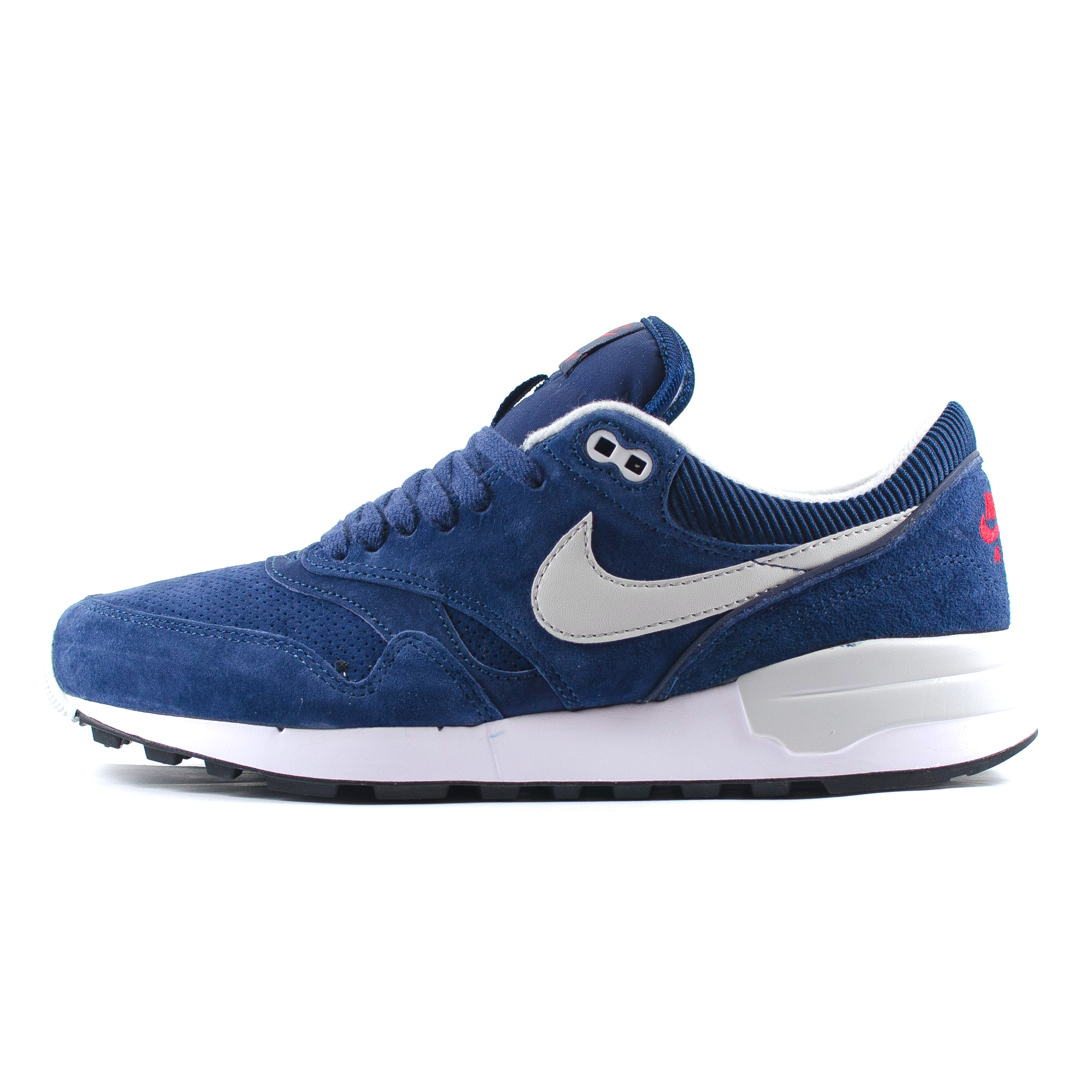 mens nike air odyssey leather suede midnight blue red grey. Black Bedroom Furniture Sets. Home Design Ideas