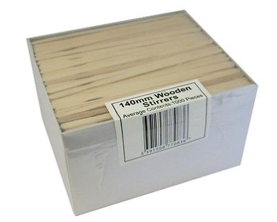 5000 Premium Quality Wooden Beechwood Drinks Stirrers