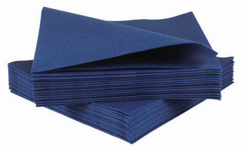 50 Luxury Royal Blue Airlaid Napkins Quality Linen Feel Ebay