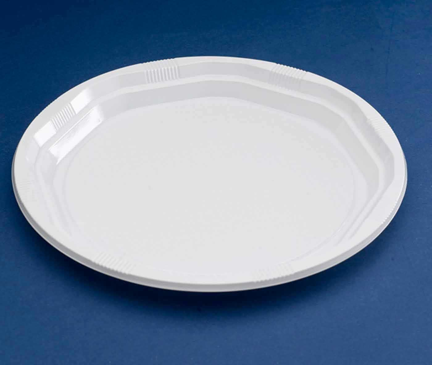50 x white 10 strong plastic party plates ebay for How strong is acrylic glass