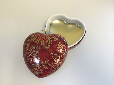 Heart Shaped Christmas Tree Decoration / Gift Box Christmas Baubles - Pack of 10