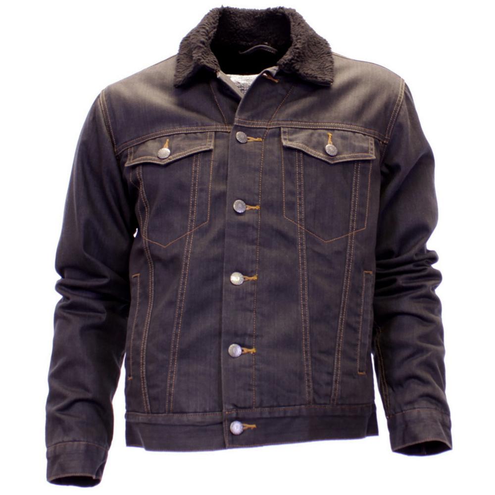 Mens Attire Regular Fit Fleece Lined Casual Denim Jacket In 3 Colours - Mens Attire Regular Fit Fleece Lined Casual Denim Jacket In 3