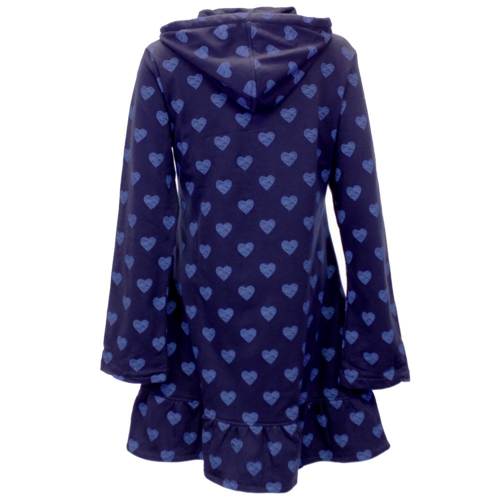 Robe de chambre femme c ur imprimer avec capuche et 2 - Robe de chambre femme polaire avec capuche ...