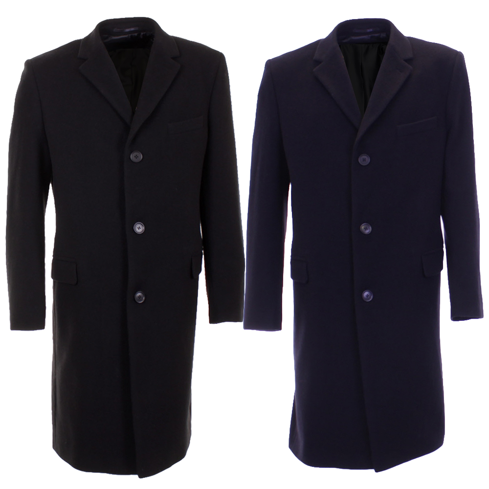 Mens knee length overcoat