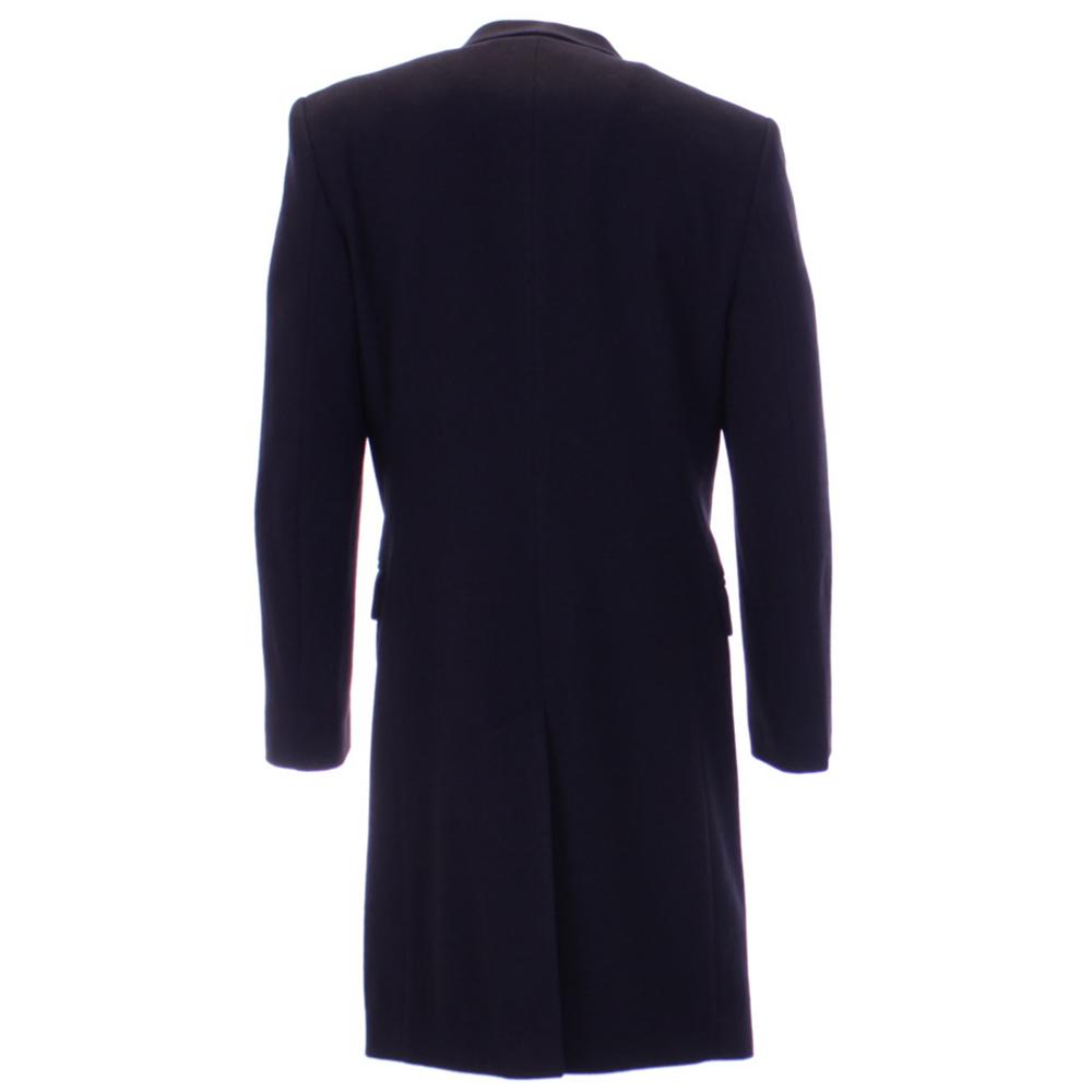 herren mailand kollektion wolle kaschmir mix knielanger mantel navy schwarz ebay. Black Bedroom Furniture Sets. Home Design Ideas