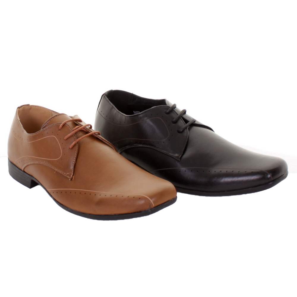 Mens Milan Lace Up Formal Smart Casual Work Shoes Wide Fit Leather Lining | EBay