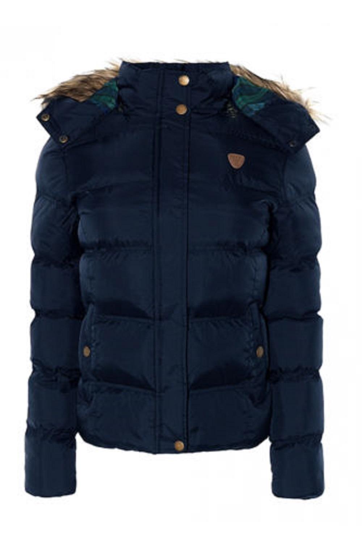 Ladies Brave Soul Hop Long Hooded Padded Puffer Parka Winter Jacket Coat