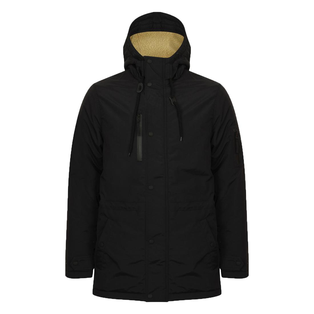 Mens Winter Coat Army Style Fishtail Parka Jacket Mod By Tokyo Laundry