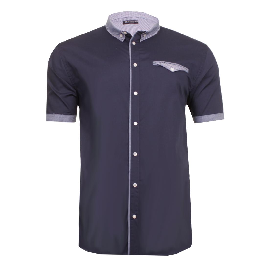 Homme Brave Soul /'Derin/' Imprimé Parti en coton à manches courtes chemise 100/% coton