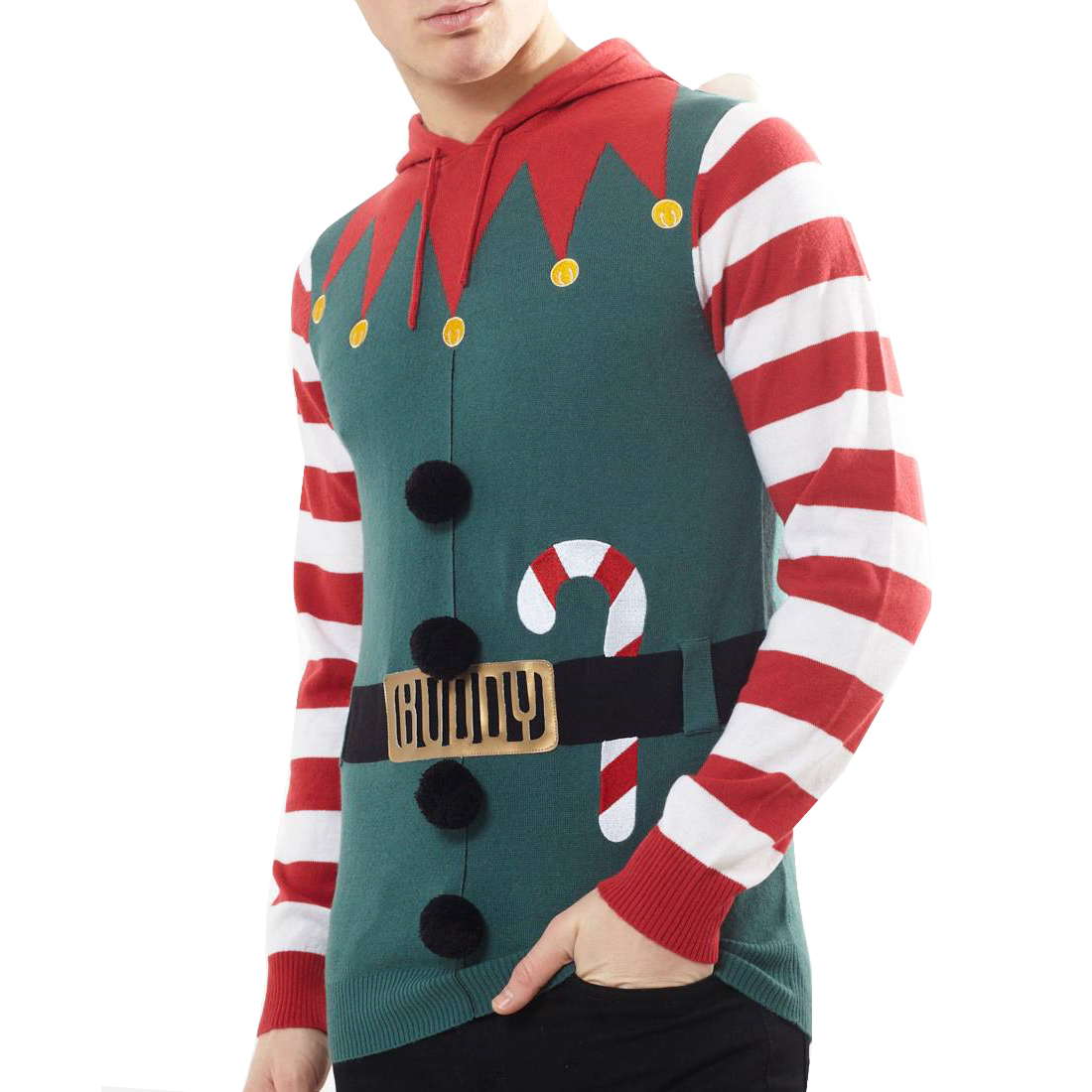 Men/'s Brave Soul Christmas Xmas Jumper Collection Crew Neck 3D Novelty Jumper