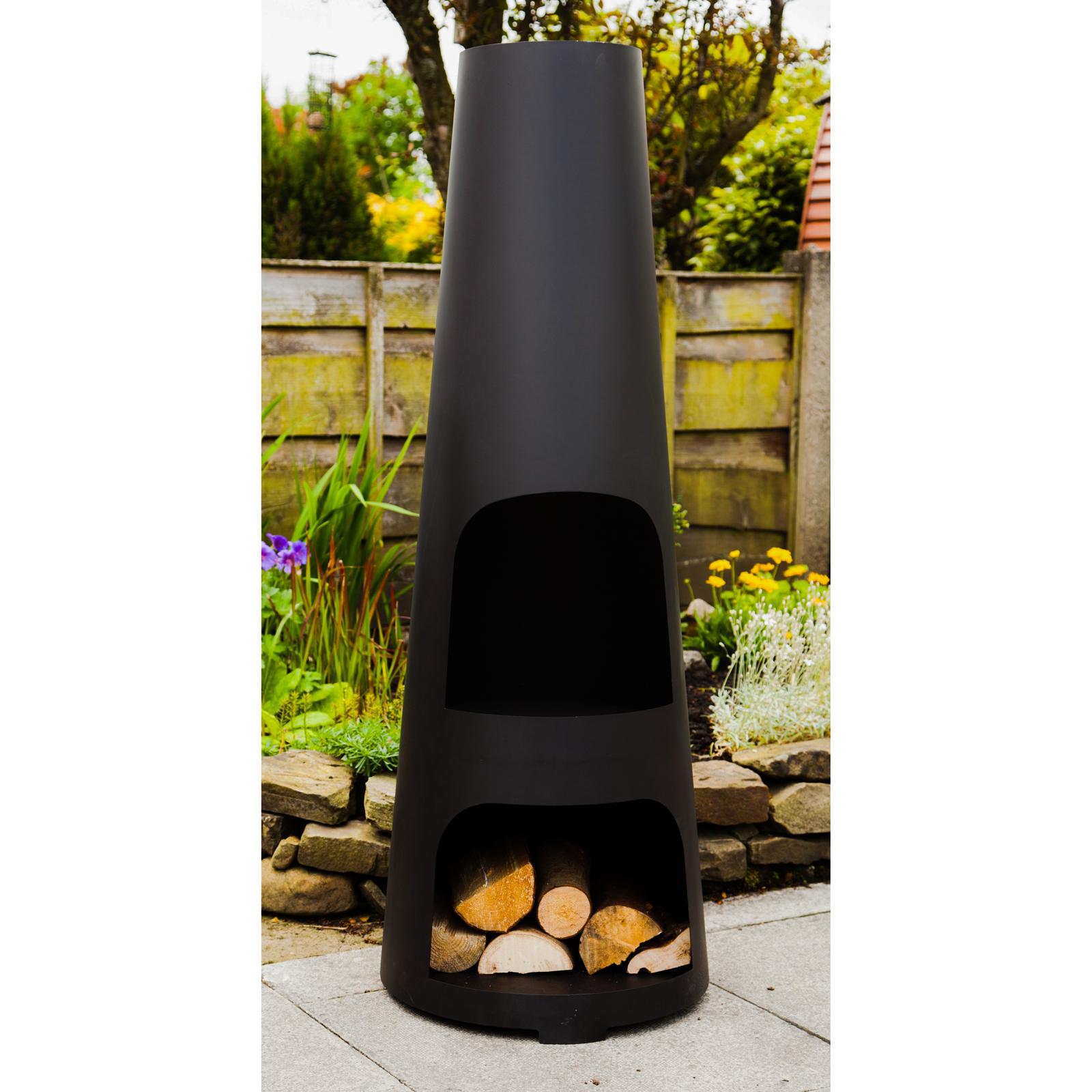 Superb Made Ou0027 Metal Garden Patio Fire Chimney Heater Large Steel Wood Burner  Chimenea