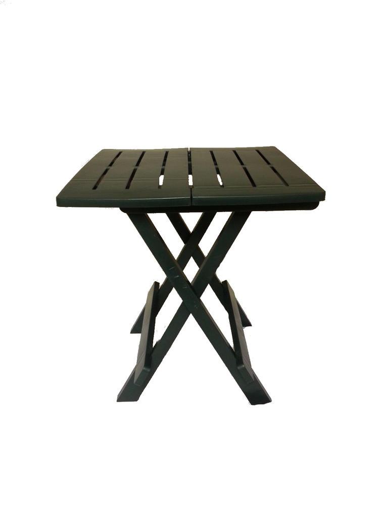 Napoli plastic folding table white - Small portable folding table ...