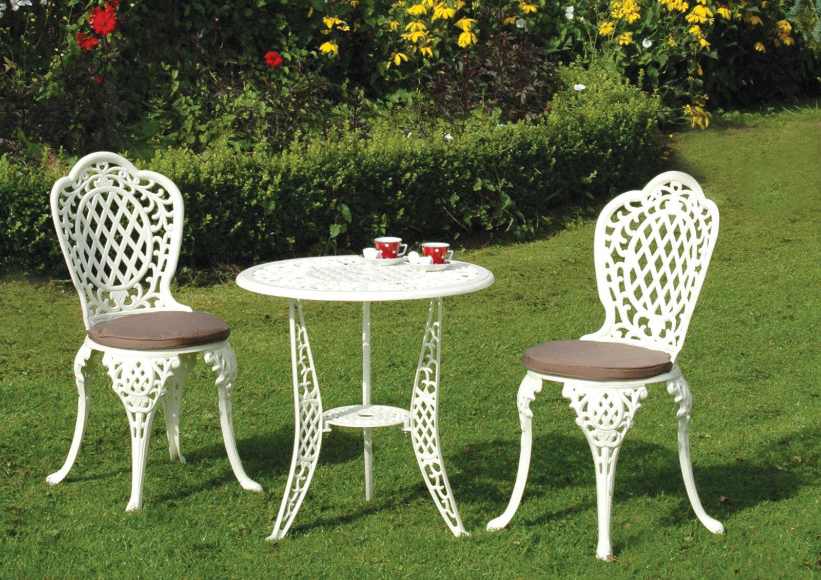 Mercer Mississippi Cream Garden Outdoor Bistro Chair 2 seater Table Patio Set