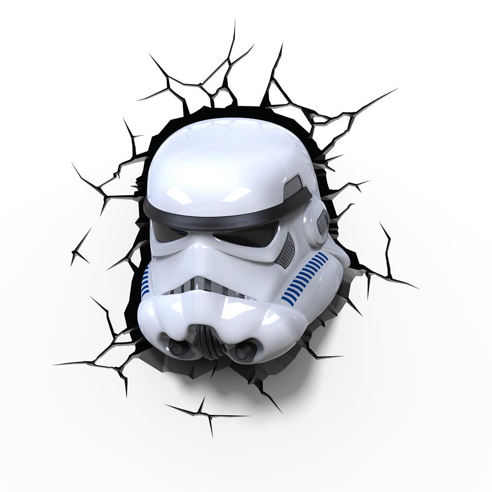 Star Wars: The Force Awakens Stormtrooper 3D Wall Light | eBay:Thumbnail,Lighting
