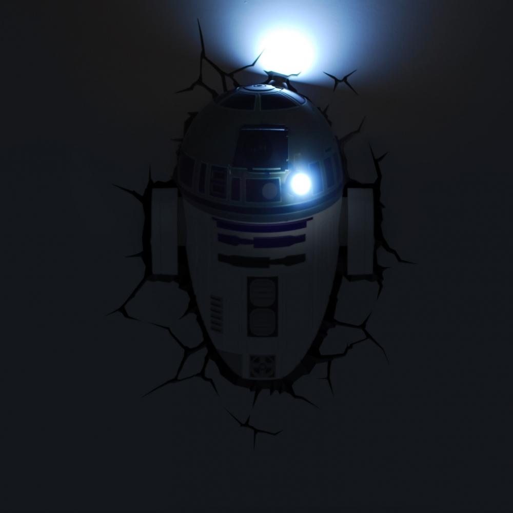 3d Wall Light Kmart : Star Wars: The Force Awakens R2-D2 3D Wall Light eBay