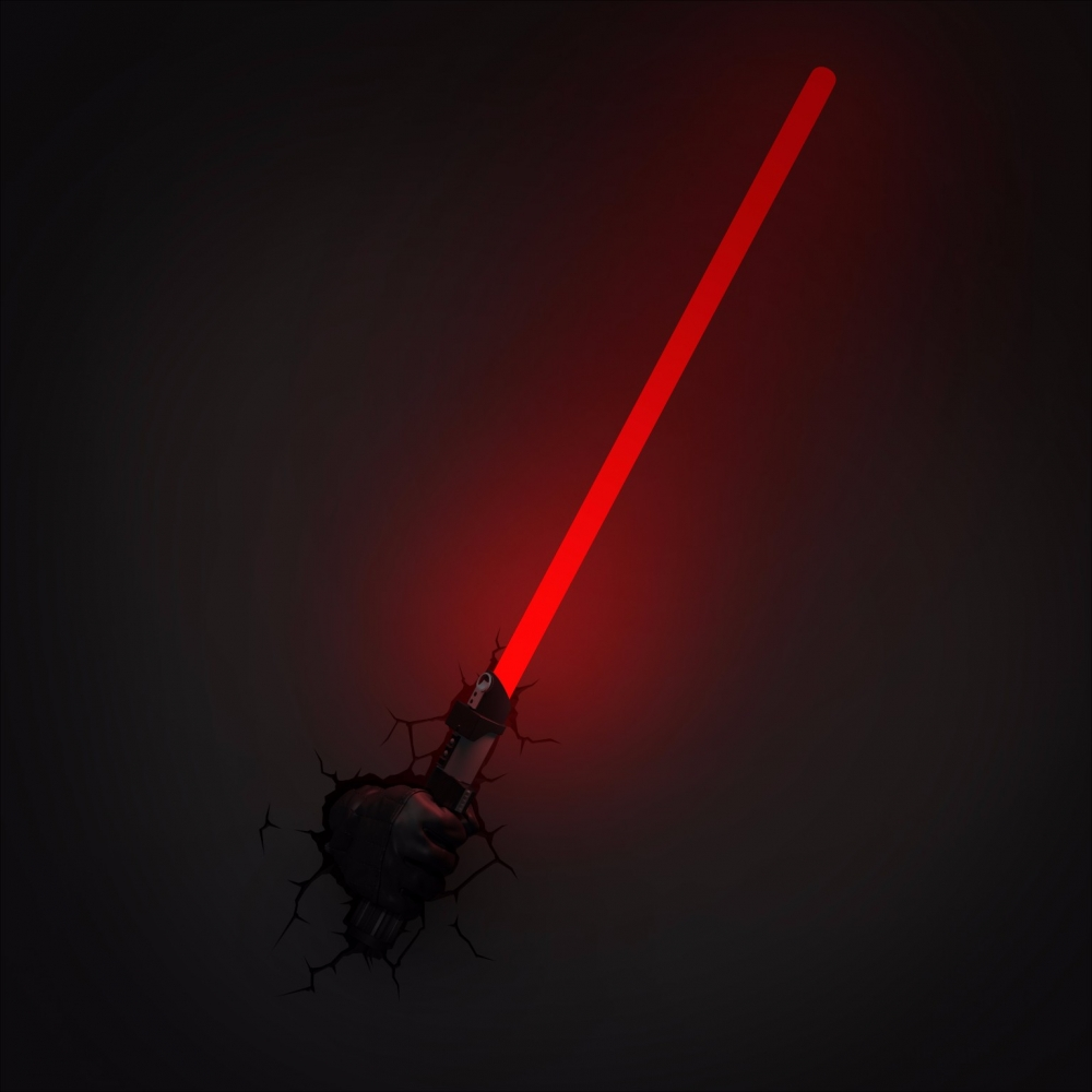 Lightsaber Wall Light Toys R Us : Star Wars: The Force Awakens Darth Vader Hand with Light Saber 3D Wall Light eBay