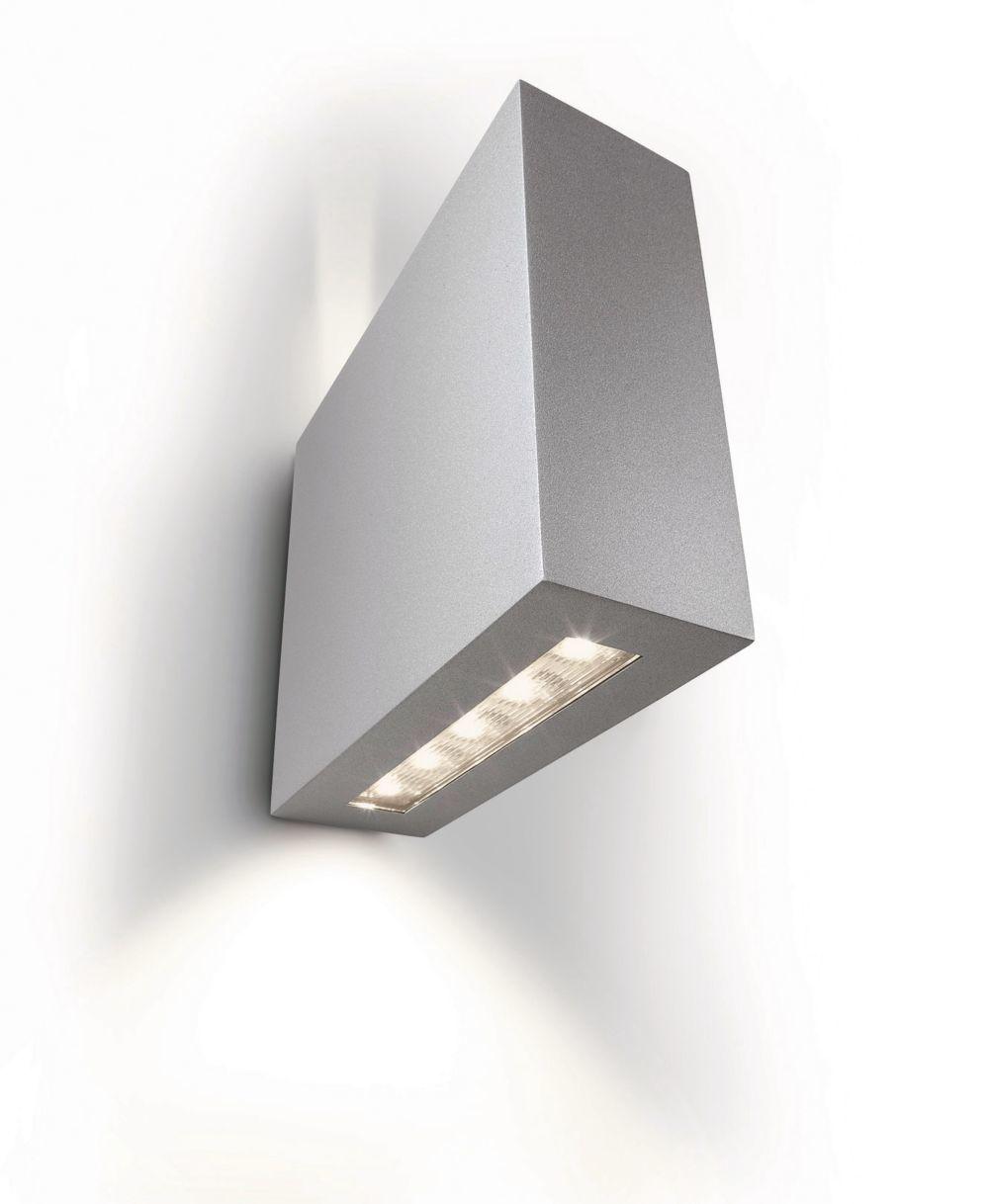 philips ledino led lampe au enbereich treeline wandleuchte dimmbar hellgrau ebay. Black Bedroom Furniture Sets. Home Design Ideas