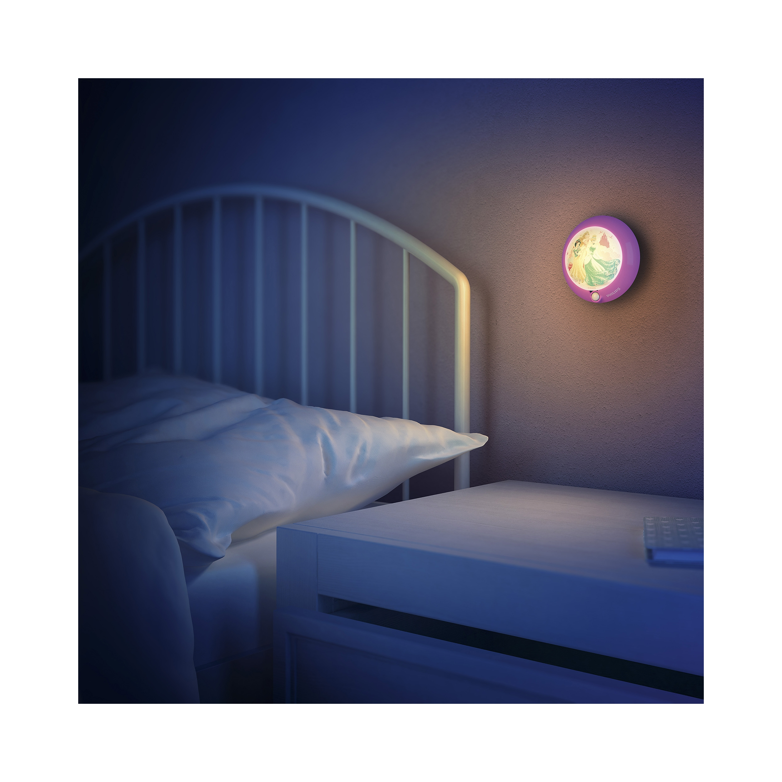 philips led lampe kinderzimmer disney nachtlicht princess licht 717652816 ebay. Black Bedroom Furniture Sets. Home Design Ideas
