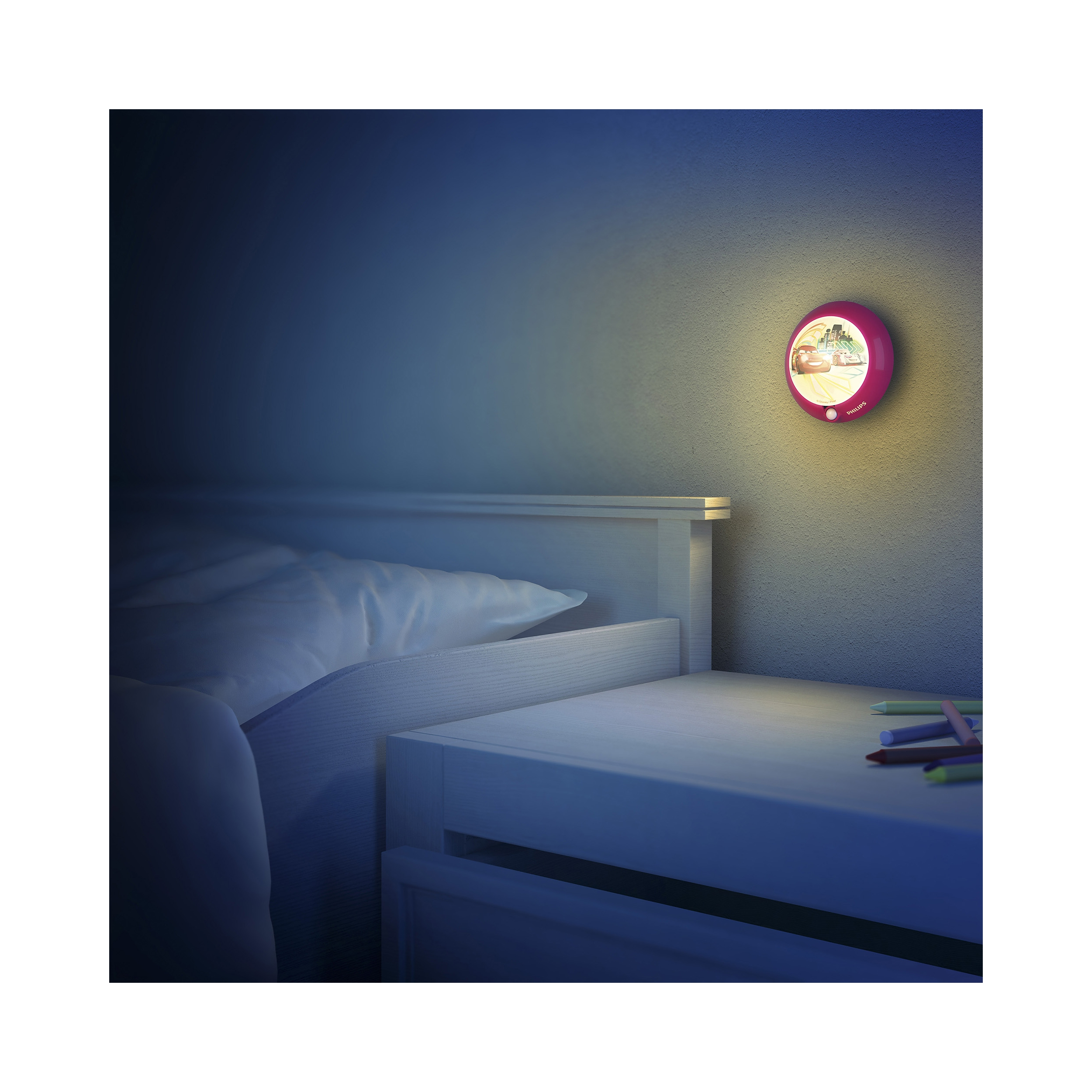philips led lampe kinderzimmer disney nachtlicht cars licht 717653216 ebay. Black Bedroom Furniture Sets. Home Design Ideas