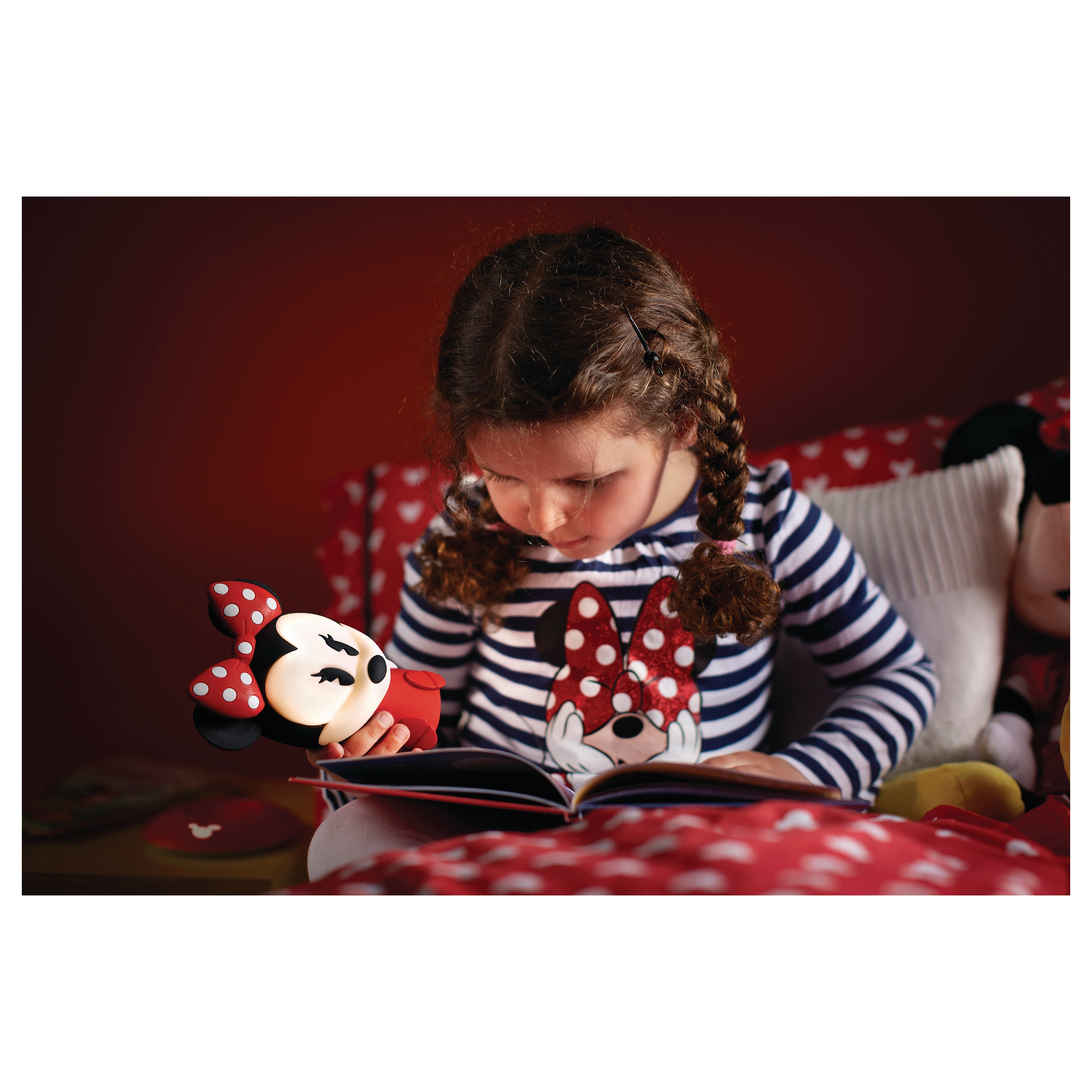 philips led lampe kinderzimmer disney tischleuchte minnie mouse licht 717103116 ebay. Black Bedroom Furniture Sets. Home Design Ideas