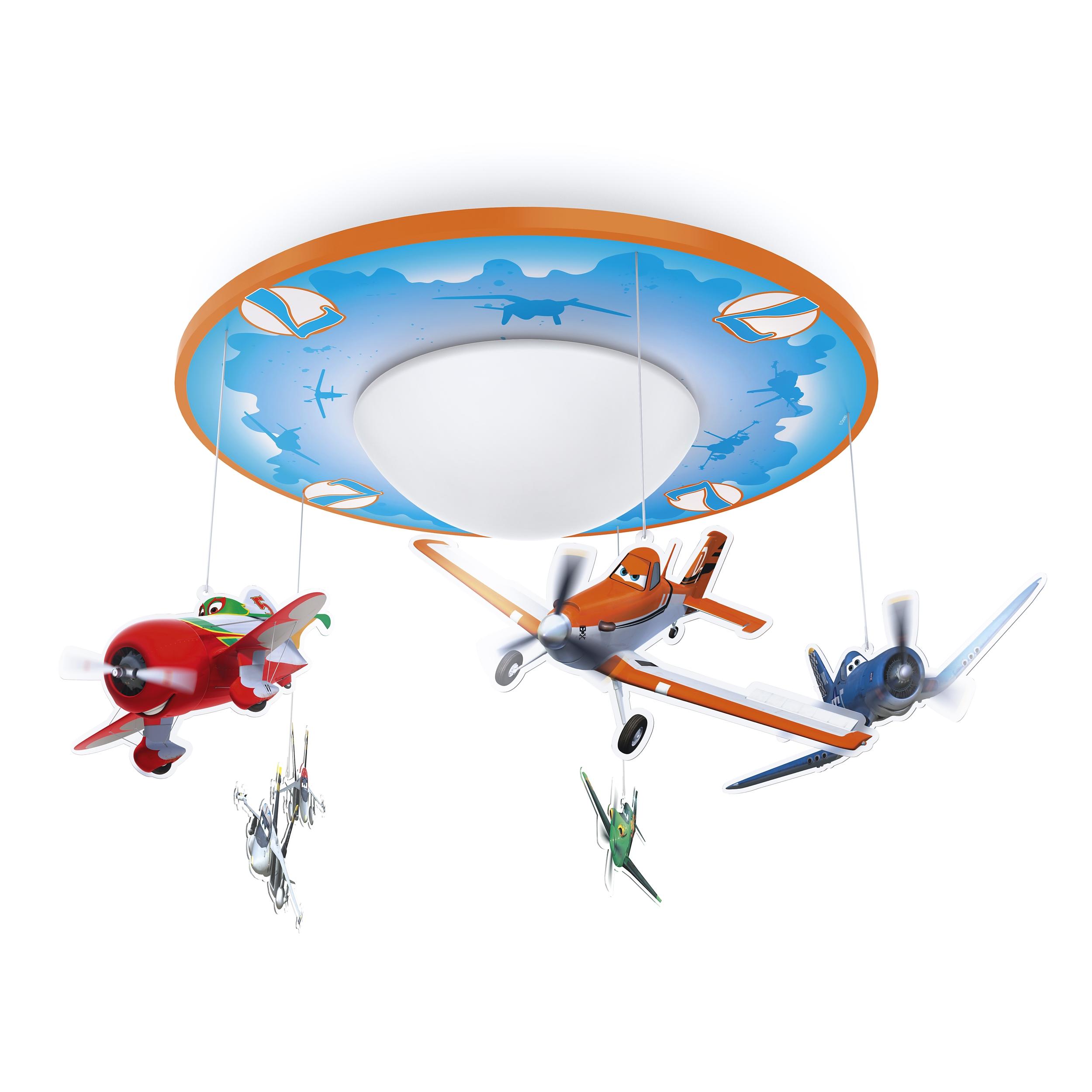 Philips led lampe kinderzimmer disney deckenleuchte planes - Lamparas de techo infantiles ...