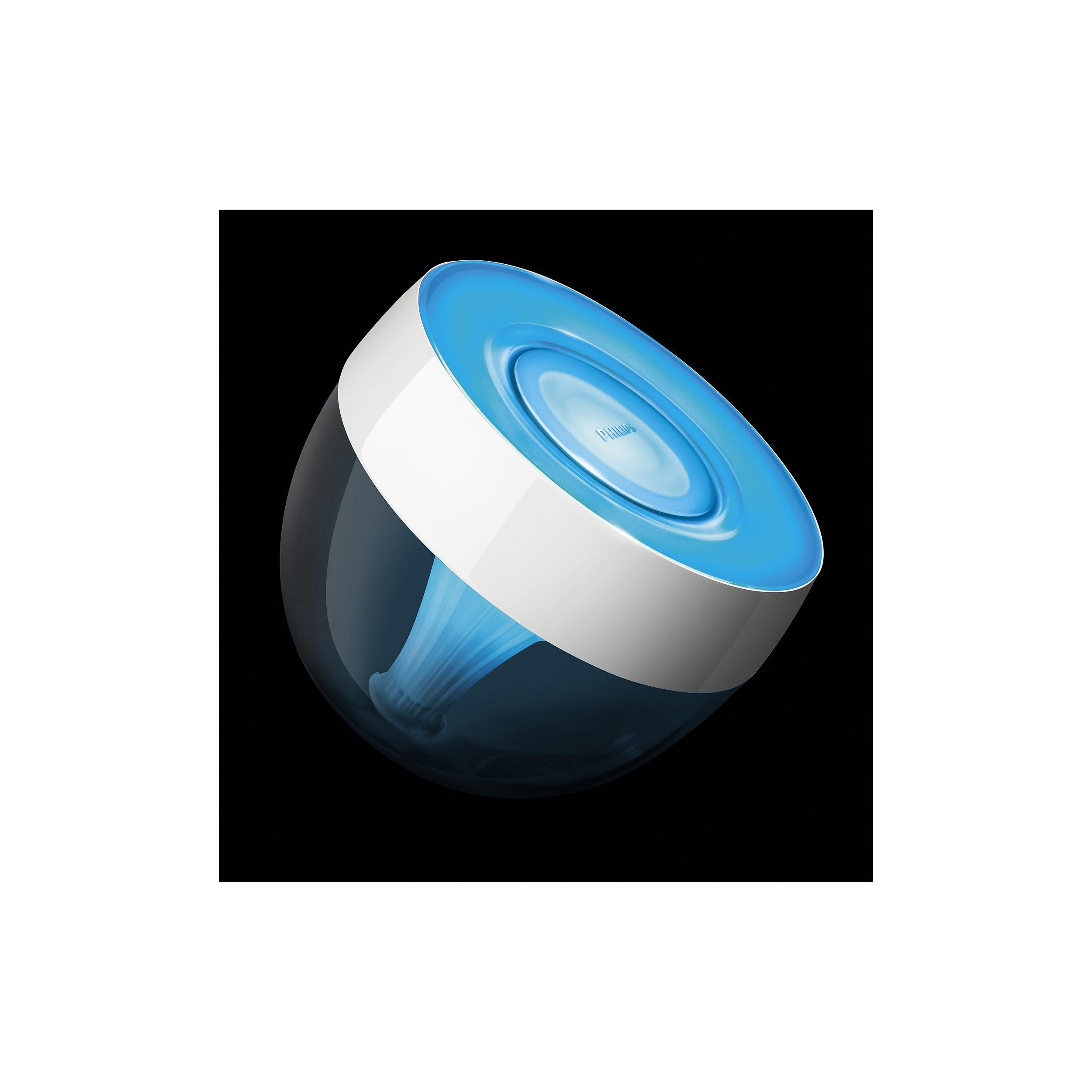 philips iris hue wifi tischleuchte innenraum kunststoff lampe licht transparent ebay. Black Bedroom Furniture Sets. Home Design Ideas