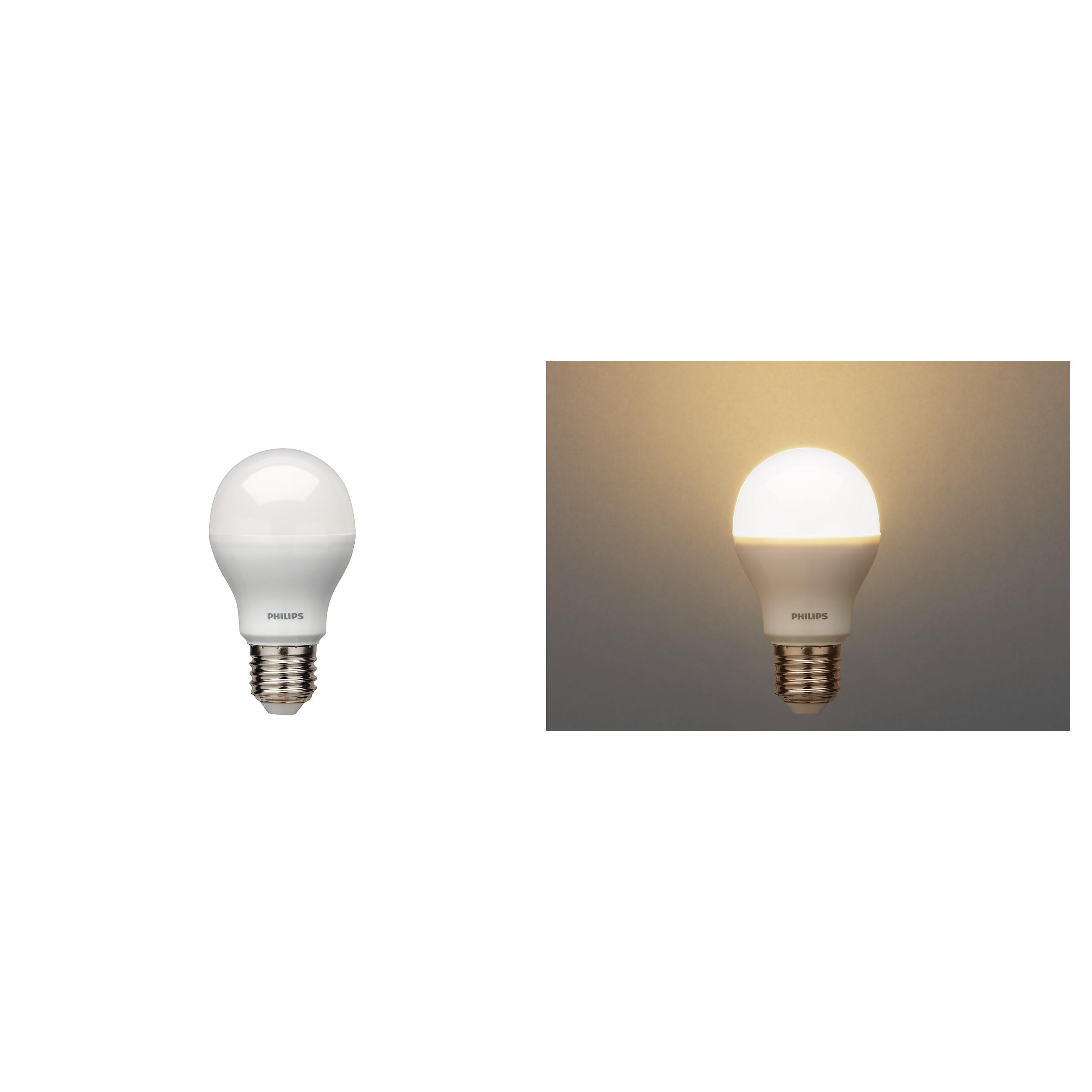 philips led gl hbirne licht standartform schraubsockel e27 8w 48w energiearm ebay. Black Bedroom Furniture Sets. Home Design Ideas
