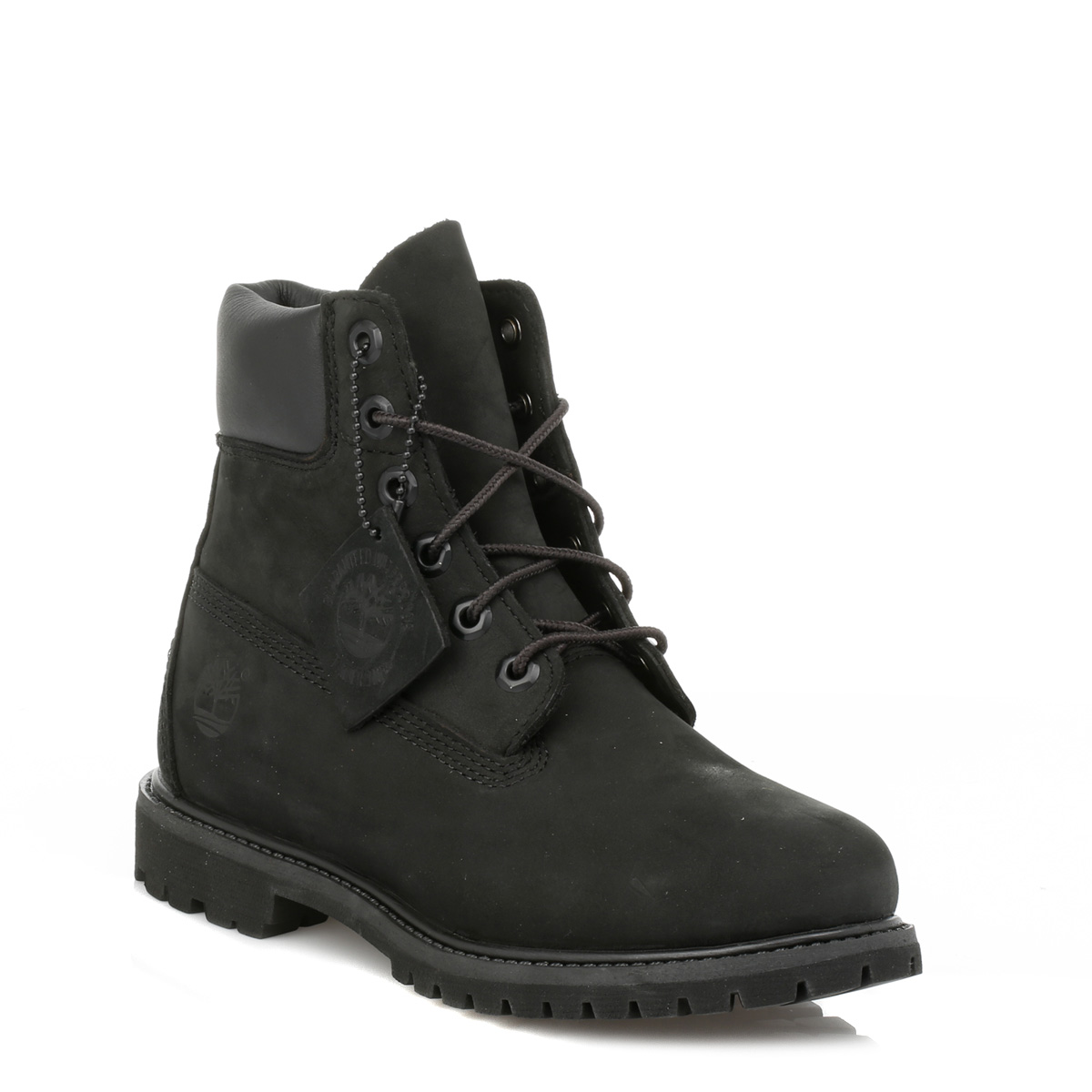 timberland womens black premium 6 inch nubuck leather lace