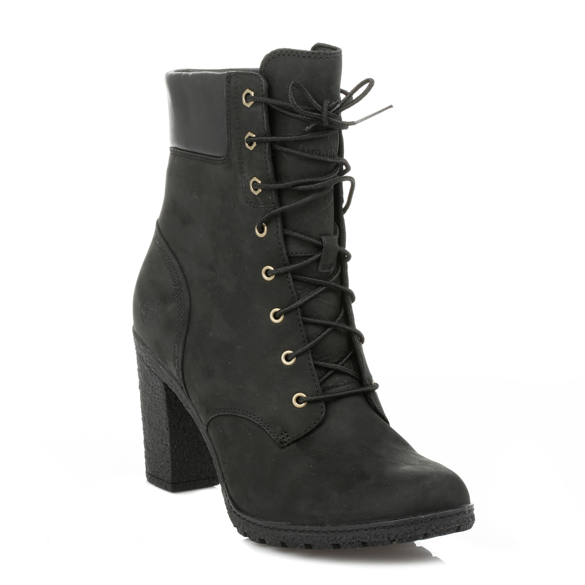 timberland bottes femme lacets noir talon glancy 6 bottines bottes chaussures 8432 a ebay. Black Bedroom Furniture Sets. Home Design Ideas