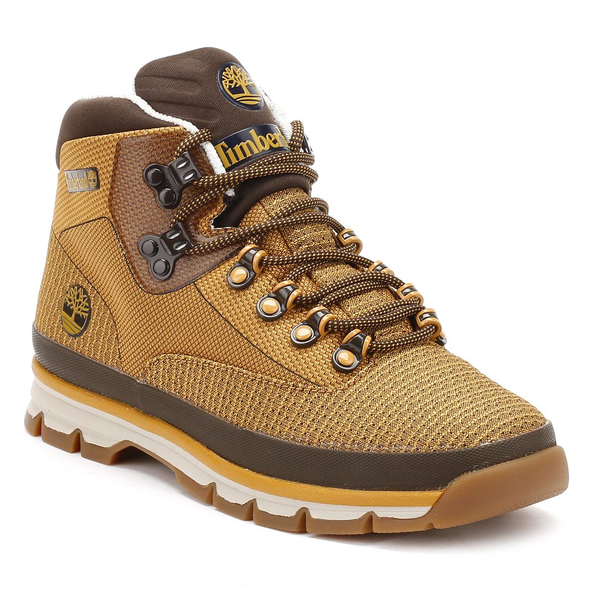 Timberland Mens Euro Hiker Boots, Wheat Jacquard, Casual ...