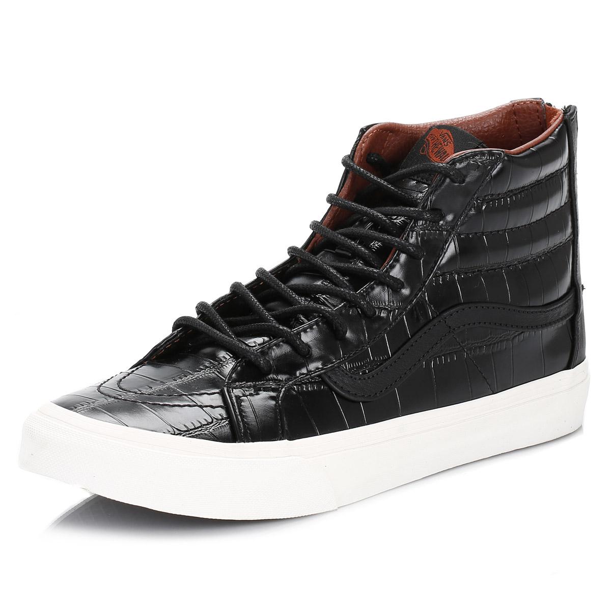 e2cba7b833 Zapatillas Vans Para Mujer Zapatillas Cuero Cocodrilo Negro SK8-Hi ...