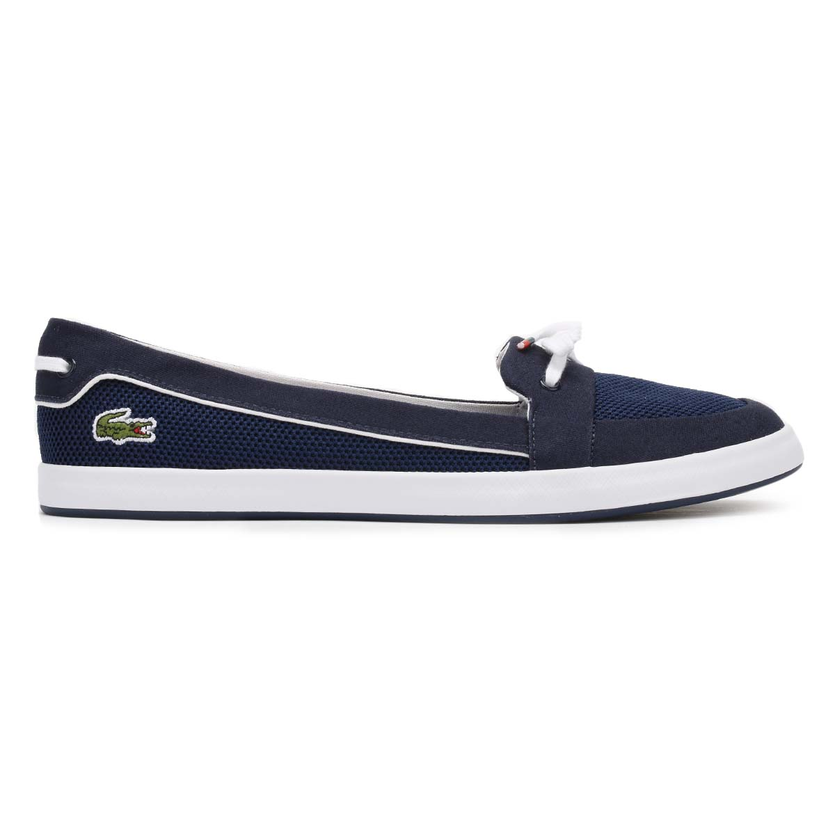 lacoste womens boat shoes navy blue lancelle 117 1 caw